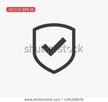 design shield icons on white background stock photo © nalinratphi