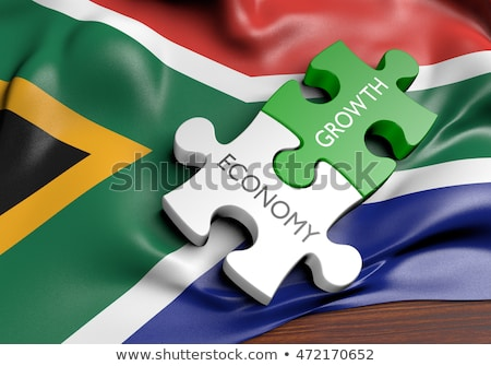 Stock photo: South Africa and South Africa Flags in puzzle