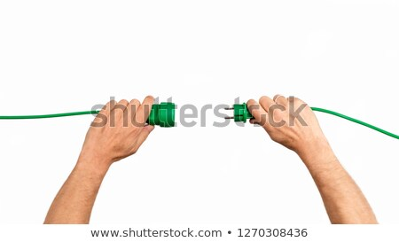 Green cable on white Stock photo © vtls
