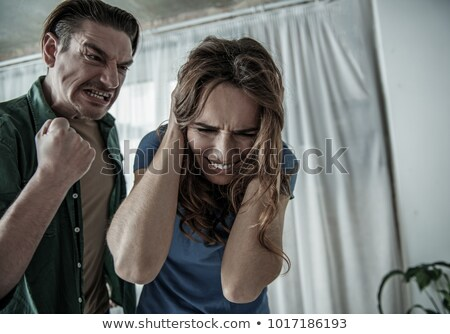 Angry man about to hit his girlfriend Stock photo © wavebreak_media