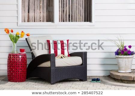 Teatime taking a relaxing break on the patio Stock photo © ozgur