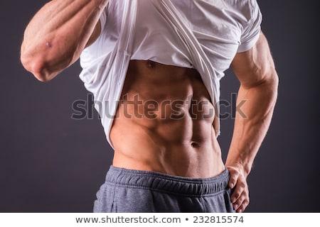 Homem abdominal músculos musculação imprensa Foto stock © restyler