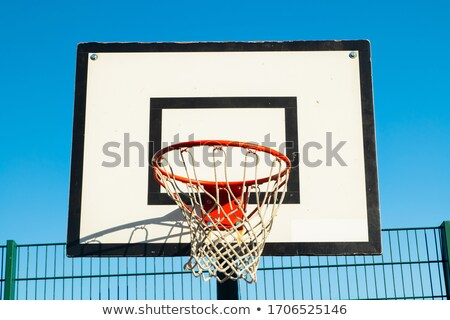 バスケットボール · 青空 · 晴れた · 空 · 太陽 · 夏 - ストックフォト © art9858