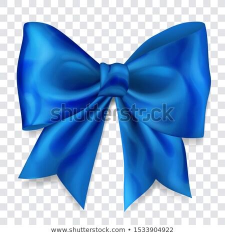 single satin blue bow  Stock photo © shutswis