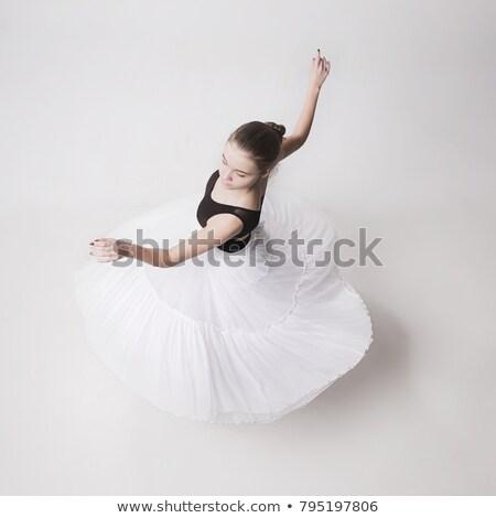 Dança menina topo moda beleza cor Foto stock © shawlinmohd