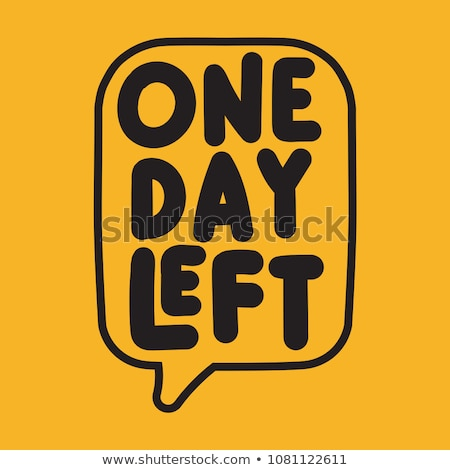1 Week Deal Yellow Vector Icon Design Stock photo © rizwanali3d