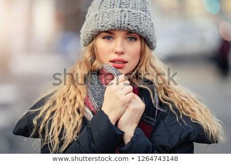 かなり 少女 帽子 小さな 魅力のある女性 クマ ストックフォト © Aikon