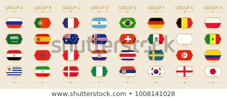 Franciaország Colombia zászlók puzzle izolált fehér Stock fotó © Istanbul2009