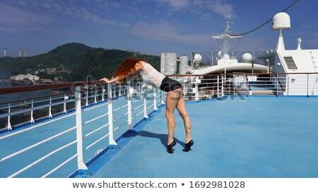 Feminino bailarina cabelos cacheados em Foto stock © deandrobot
