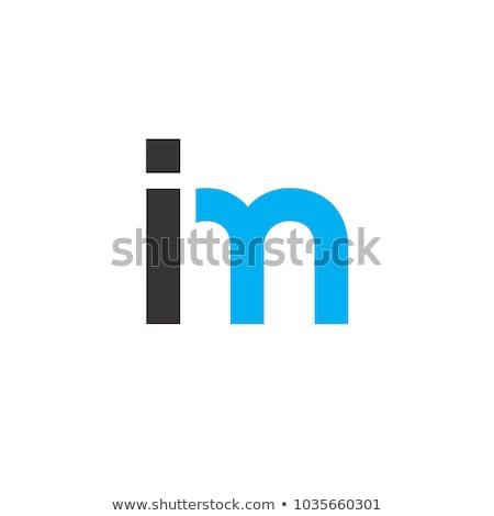 Bağlantı imzalamak mavi vektör ikon dizayn Stok fotoğraf © rizwanali3d