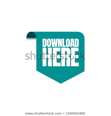Stock photo: Download Here Green Vector Icon Design