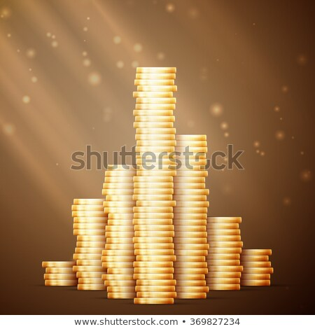 gold coin stack with doodles line stock photo © netkov1