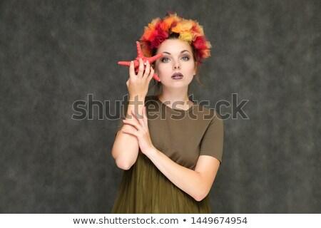 Moça bonita coroa água belo mulher jovem tradicional Foto stock © Aikon