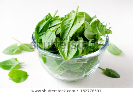 Spinach in a glass bowl Stock photo © mady70