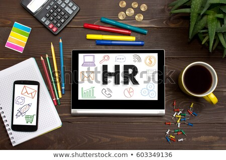 Online szó iroda szerszámok fa asztal internet Stock fotó © fuzzbones0