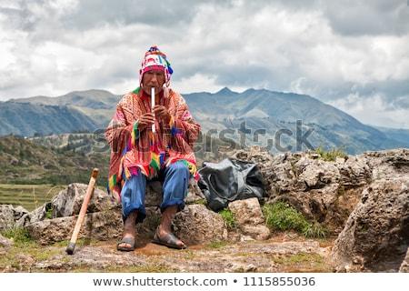 traditional Peruvian man Stock photo © adrenalina