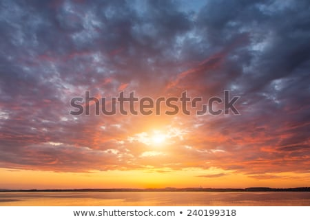 landscape with river and cloudy sky stock photo © karandaev