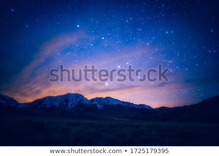 Night landscape in the mountains Stock photo © Kotenko