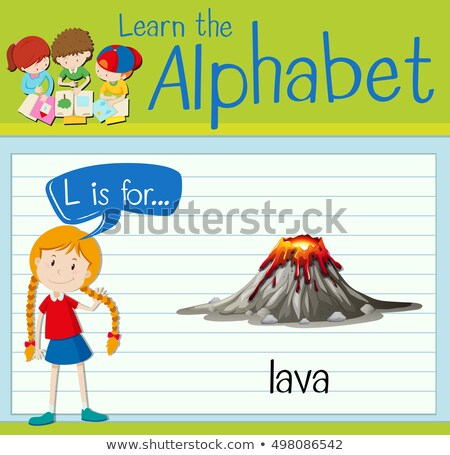 Flashcard letter L is for lava Stock photo © bluering