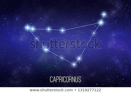 Starfield background of zodiacal symbol 'Capricorn' Stock photo © kayros