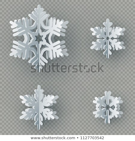 Christmas template with paper cutout. EPS 10 Stock photo © beholdereye