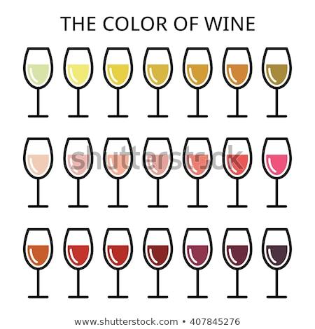 Glas stro kleur wijnglas wijn geïsoleerd Stockfoto © brulove
