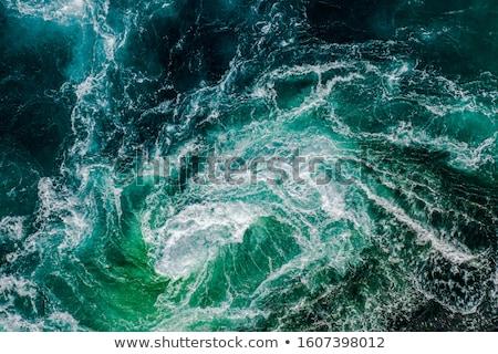 Norvégia természet óceán kék hullám csobbanás Stock fotó © cookelma