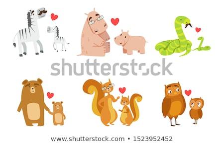 Familia serpientes ilustración bebé amor naturaleza Foto stock © adrenalina