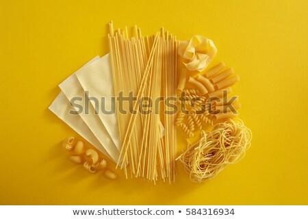 Essiccati spaghetti altro ingredienti pomodoro shell Foto d'archivio © Digifoodstock