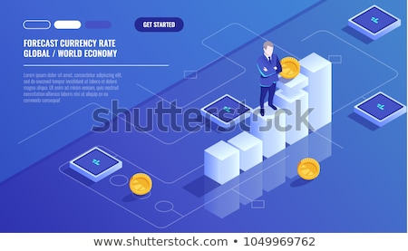 bitcoins growth chart vector business background stock photo © sarts