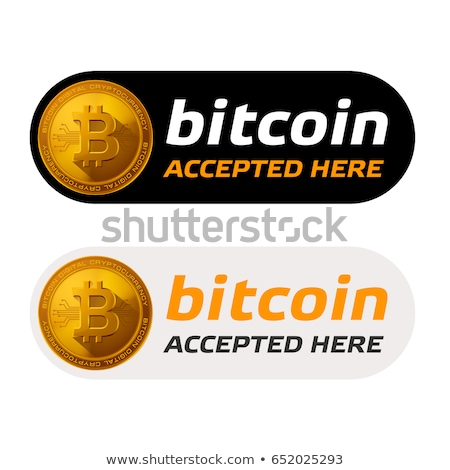 bitcoins cryptocurrency buttons or labels set Stock photo © SArts