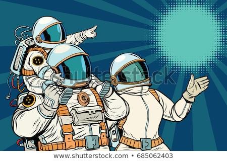 Família pai mãe criança espaço viajar Foto stock © studiostoks