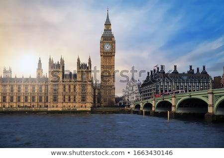 Big Ben and Westminster Bridge at dusk Stock photo © vwalakte