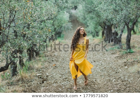 Portrait of woman in olive grove Stock photo © IS2