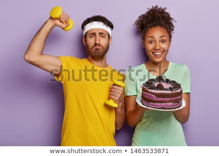 Man and woman with cake Stock photo © IS2