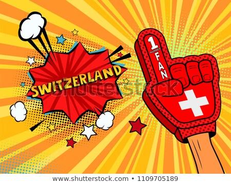 спортивных вентилятор Швейцария сердце флаг стране Сток-фото © rogistok