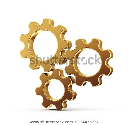 fejlődő · üzlet · arany · sebességváltó · 3d · illusztráció · fémes - stock fotó © tashatuvango