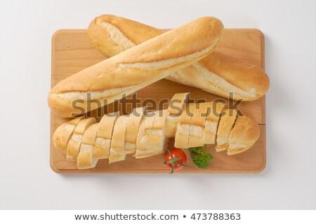 kort · frans · baguettes · rosmarijn · witte - stockfoto © digifoodstock