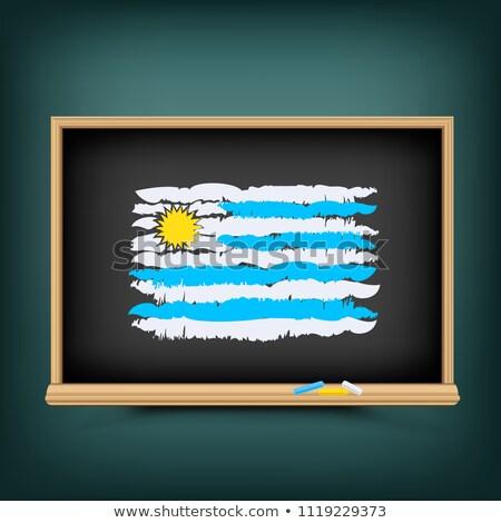 ウルグアイ 色 フラグ 描画 学校 黒板 ストックフォト © romvo