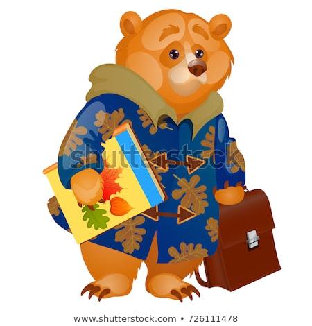 Bonitinho compêndio mochila Foto stock © Lady-Luck