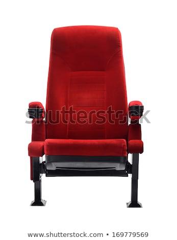 красный · театра · французский · классический · бархат · сиденье - Сток-фото © boggy
