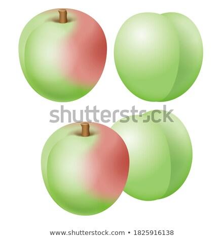 Сток-фото: небольшой · таблице · набор · свежие · фрукты · напитки · изолированный