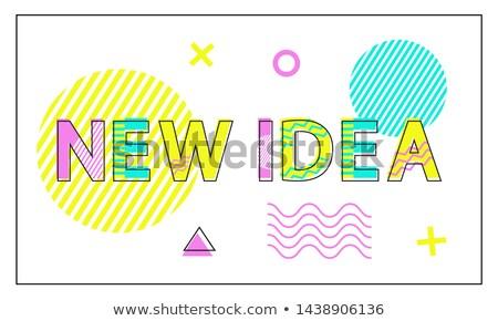 Novo idéia cartaz geométrico linear estilo Foto stock © robuart
