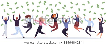 Victory Catch vector illustration Stock photo © Vicasso