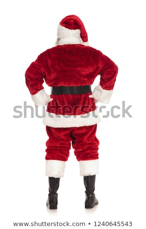 back view of santa claus standing with hands on hips Stock photo © feedough