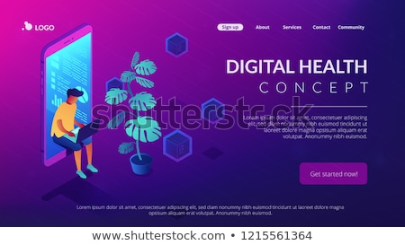 digital era isometric 3d landing page stock photo © rastudio