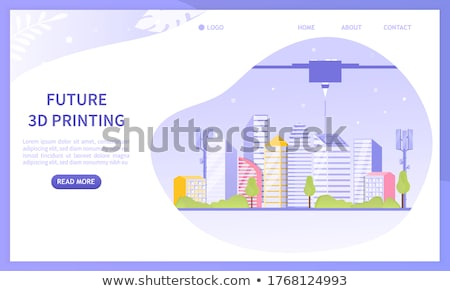 smart roads construction concept landing page stock photo © rastudio