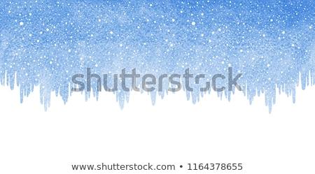 Icicles border on blue sky background  Stock photo © Kotenko