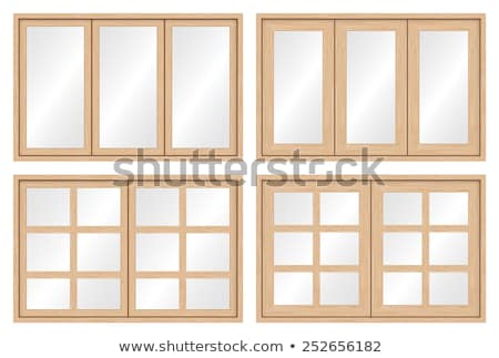 Four window frames in different colors Stock photo © colematt