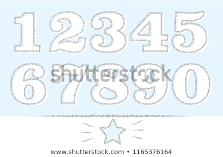 Stock photo: Boy with number five banner